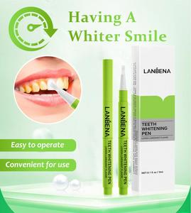 LANBENA 1PC Teeth Whitening Pen Bleaching White Gel Pen Tooth Cleaning Products Oral Care TSLM2