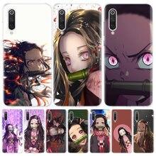 Coque de téléphone à la mode pour Xiaomi, compatible modèles Redmi Note 9 8 7 8A 7 7A 6A S2 K20 K30 8T 9S MI 9 8 CC9 F1 Pro, Demon Slayer Kamado Nezuko