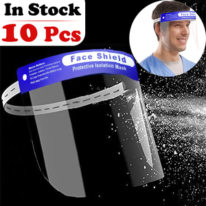 Dropshipping In Stock Adjustable Size Face Sheild Plastic Ship From Texas USA Protective Safety Full Faceshield For Adults&Kids
