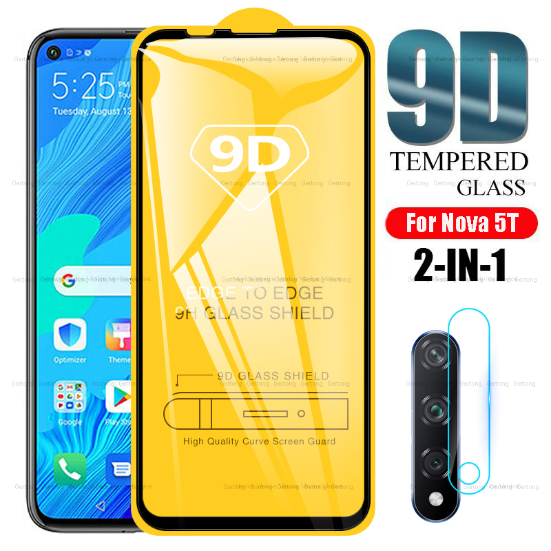 2-in-1 Camera Lens Tempered Glass For Huawei Nova 5T 5 T  YAL-L21 6.26inch Screen Protector For Huawei Nova5t Protective Glass