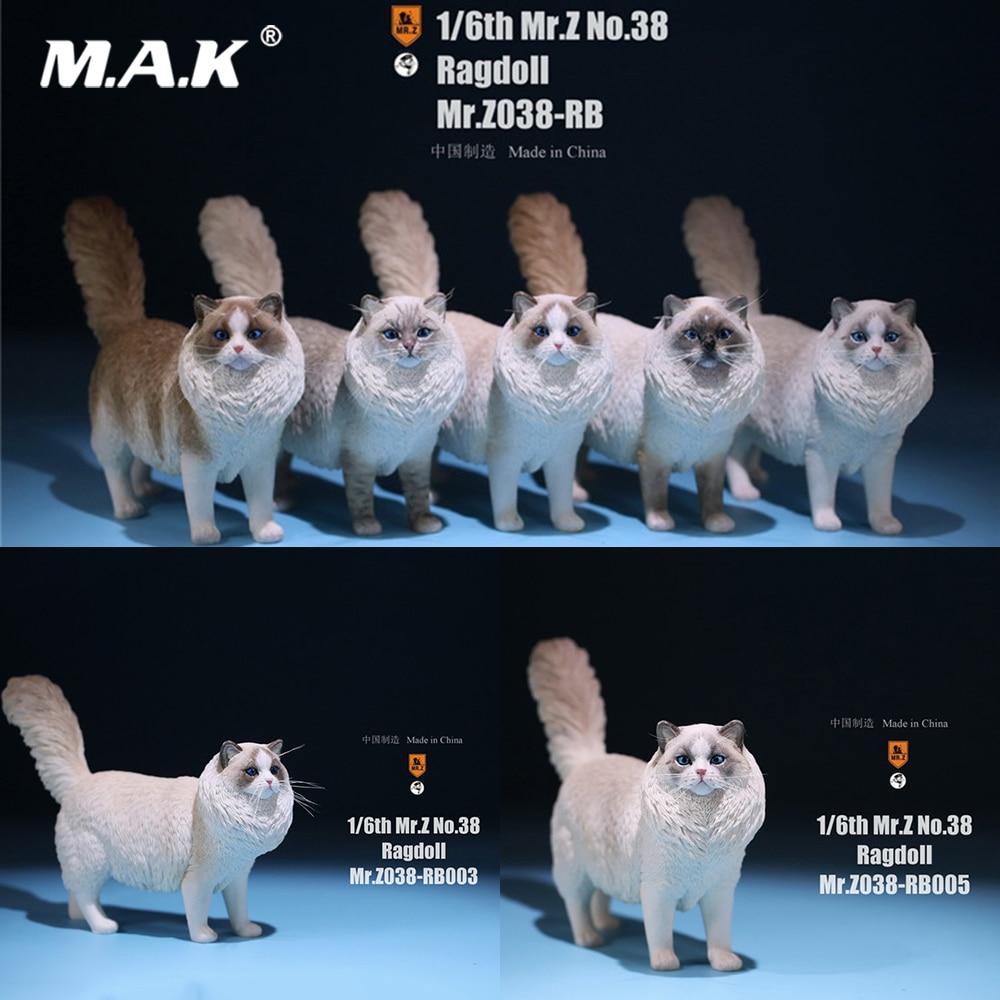 Mr.Z MRZ038 In Stock 1/6 Figure Scene Accessories Ragdoll Simulation Animal Statue Pet Cat Model for 12'' Action Figure