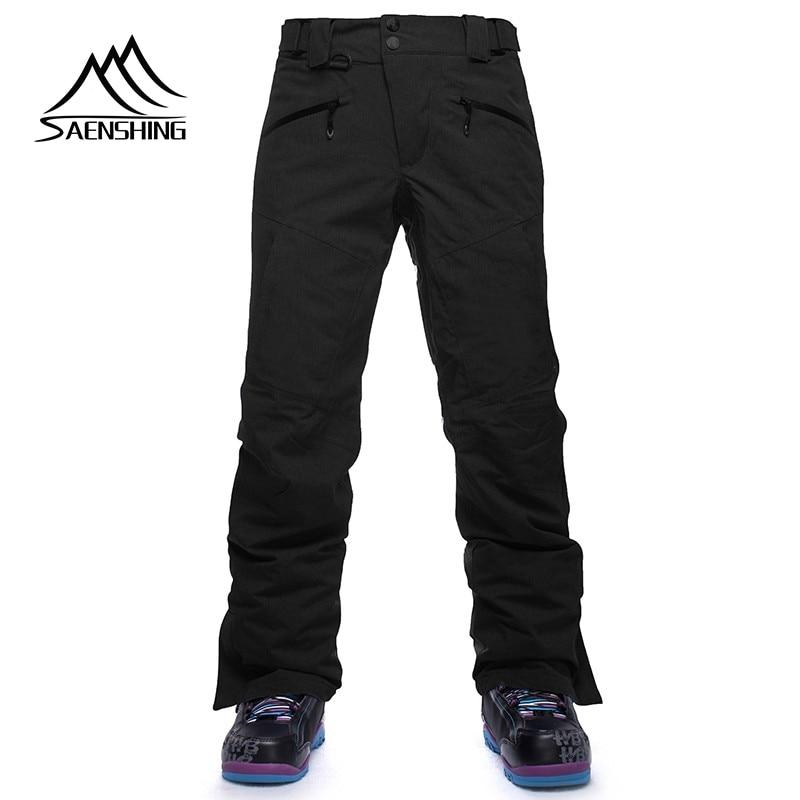 Pantalon de Ski d'hiver de marque Saenshing imperméable coupe-vent pantalon de snowboard hommes pantalon de ski de neige chaud respirant pantalon de ski en plein air