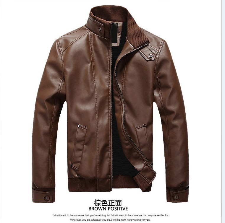 2019 Spring Autumn Winter New Style MEN'S Leather Coat Men'S Wear Korean-style Slim Fit Biker MEN'S Leather Jackets Fashion