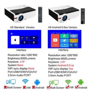 Image 3 - Caiwei A9/A9AB 스마트 LED 지원 1080p 프로젝터 홈 시네마 풀 HD 비디오 모바일 비머 안드로이드 와이파이 블루투스 hdmi VGA AV USB