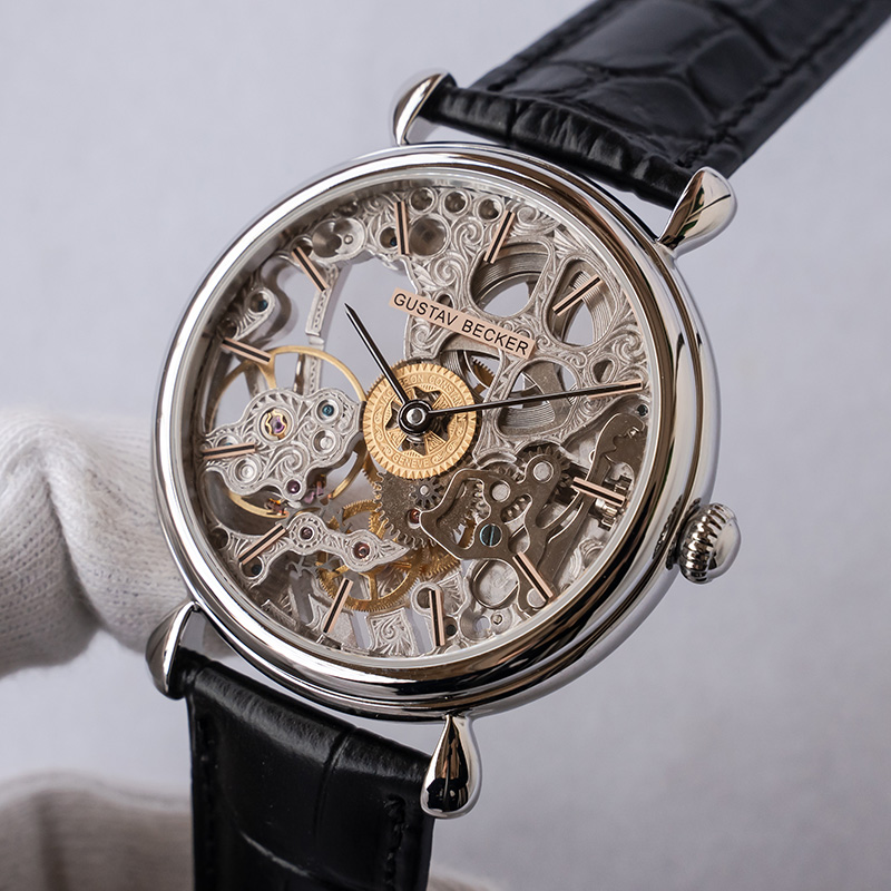 Super Luxury Full Perspective Skeleton Mechanical Watch Men ST36 Seagull Movement Sports Watches Dual-sided Sapphire Clock GB