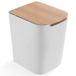 Kosz na śmieci kosz na śmieci przyjazne dla środowiska kosz na śmieci plastikowy kosz na śmieci gospodarstwa domowego kosz na śmieci toaleta wc kosz na śmieci wiadro na śmieci biały w Kosze na śmieci od Dom i ogród na