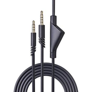 Replacement Audio Cable Extension Cord with Mute Function For Astro A 10 40 A10 A40 Gaming Headsets With 3.5mm Jack and Mic
