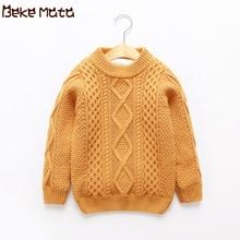 Зимние Свитера для девочек, г., вязаные Плотные хлопковые свитера для мальчиков одежда с длинными рукавами для маленьких девочек, пуловер детские свитера