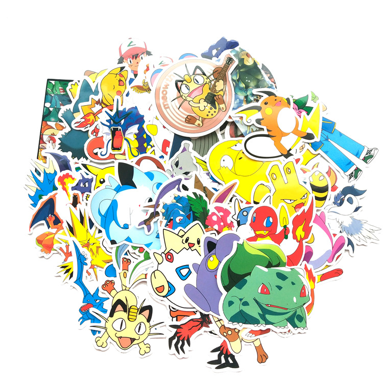 107pcs-font-b-pokemon-b-font-pikachu-cartoon-stickers-skateboard-laptop-luggage-car-sticker-cosplay-prop-accessories