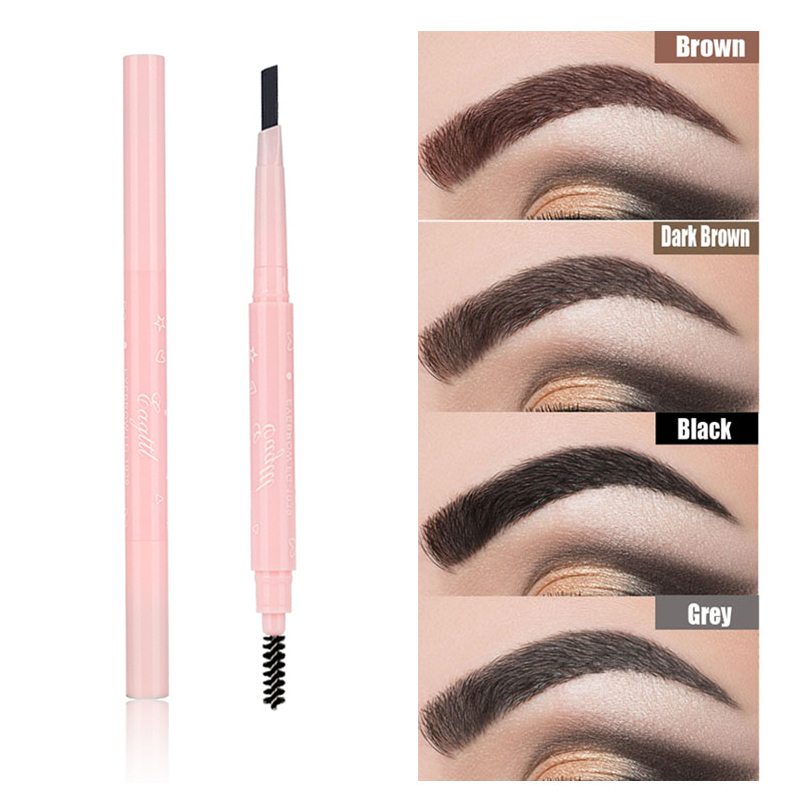 Eyebrow Pencil With Brush Double Ended Microblading Waterproof Lasting Fine Sketch Brow Tattoo Pen Makeup