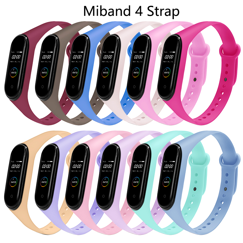 For Xiaomi Mi Band 4 Strap New Fashional Colorful Miband 4 Strap Silicone Mi Band 4 Belt Replacement For Xiaomi Mi 4 Band