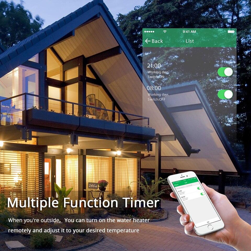 WiFi умный котел переключатель водонагреватель Смарт жизнь Tuya приложение дистанционное управление Amazon Alexa Echo Google Home Голосовое управление сте...