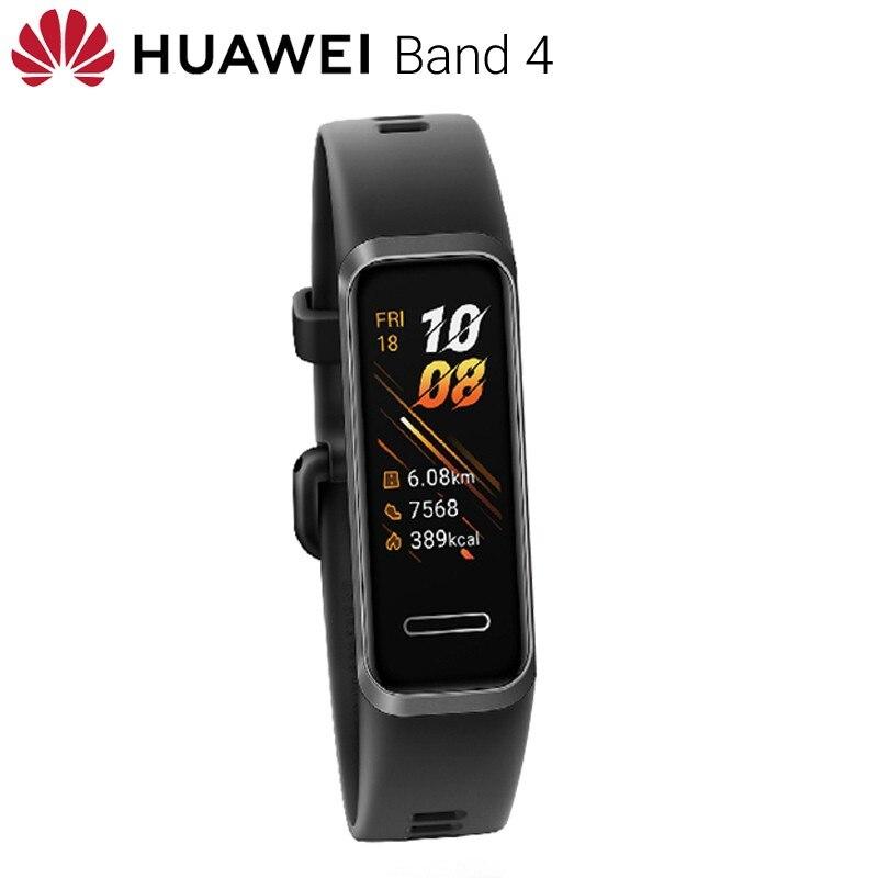 Original Huawei bande 4 globale Vesion montre intelligente fréquence cardiaque Fitness bande Tracker Sport Bracelet intelligent étanche Bracelet hommes - 4