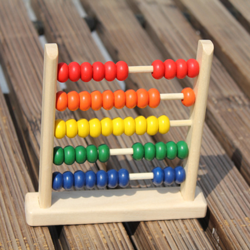 Abacus Montessori Educational Toy Children Early Math Learning Toy Numbers Counting Calculating Beads Mini Wooden Abacus