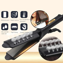 Hair dryer brush Straightener Four-gear temperature adjustme