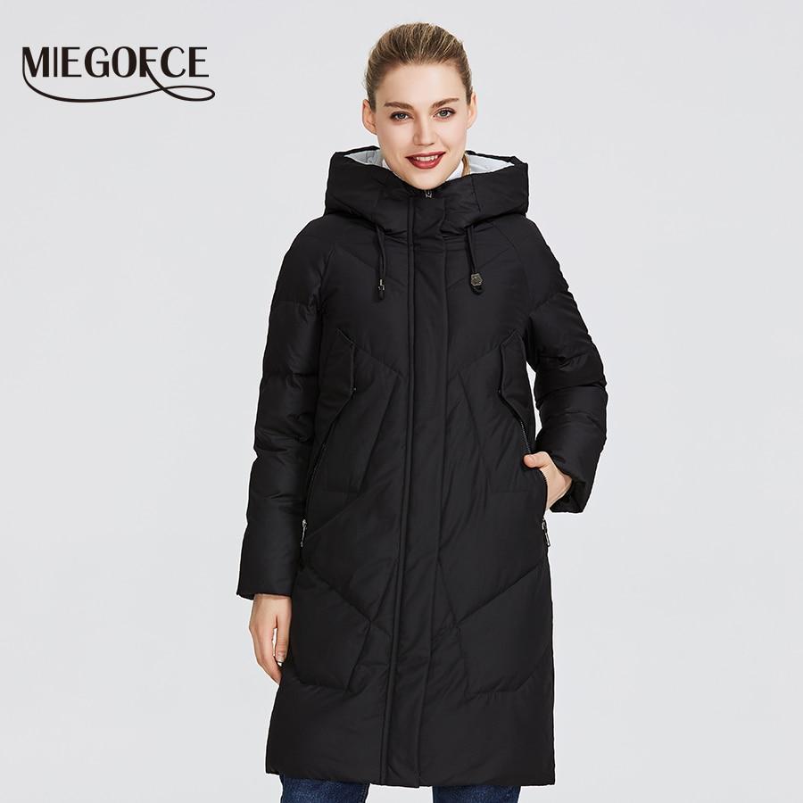 Kadın Giyim'ten Parkalar'de MIEGOFCE 2019 kadın kış Parka Femme Windpro ceket Stand Up yaka ve kaput olacak koruyun en soğuk kadın ceketi'da  Grup 1