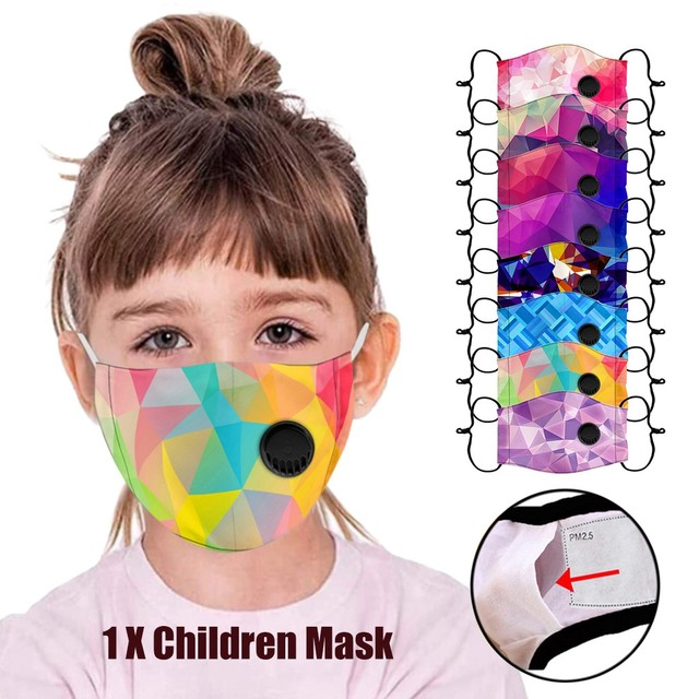 Kids Boys Girl Cotton Washable Cartoon Facemask Cartoon Maske Activated Carbon Face Maskswashable And Reusable Scarf Maske 9 1