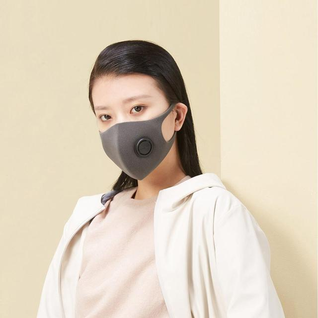 Xiaomi SmartMi Black PM2.5 Mouth Mask Anti Pollutio Dust Mask Bacteria Proof Flu Face Masks Filter Respirator with Breath Valve 2