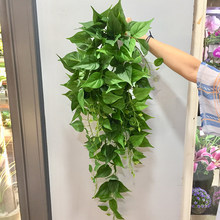 Charberry 2019 Artificial Fake Hanging Vine Plant Leaves Garland Home Garden Wall Decoration Easter Party Gift A