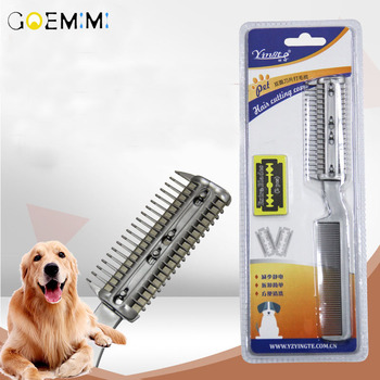 Profissional escova de cão pente filhote cachorro gato aparador de pêlos slicker gilling escova lâmina pente ferramenta de limpeza rápida para pet grooming pente
