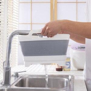 Image 2 - Portable Folding Bucket Foldable Basin Outdoor Travel Foldable Camping Washbasin Fruit Basin Bowl Sink Household Cleaning Tools