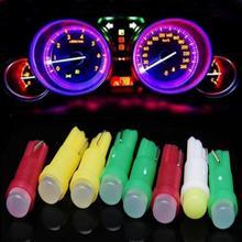 10 sztuk żarówka LED samochodowa T5 1SMD Cob LED Instrument lampka ostrzegawcza żarówka światła samochodowe Auto produktu wewnętrzne oświetlenie otoczenia akcesoria samochodowe