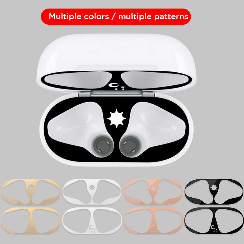 Leuke Patroon Dust Guard Voor Apple Airpods 1 2 Case Box Sticker Stofdicht Oortelefoon Film Voor Airpods Air pods 1 2 Cover Stickers