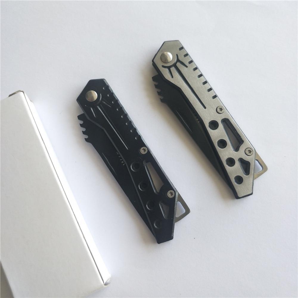 Купить с кэшбэком Tactical 58HRC High Hardness 440C Blade Stainless Steel Handle Folding Knife Outdoor Camping Hunting Survival Tool