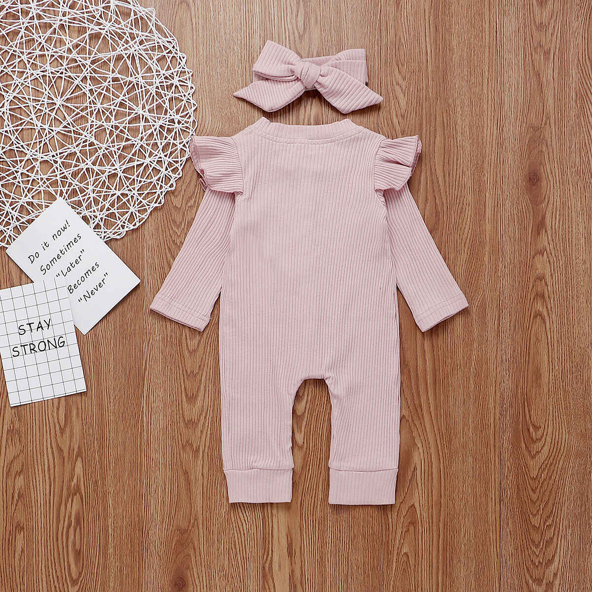 New 2Pcs Baby Girl Boy Cotton Clothes Knitted Romper Jumpsuit Autumn Outfits