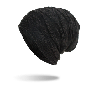 Image 2 - TOHUIYAN Crochet Beanie Hat For Men Slouchy Autumn Winter Hats Fashion Skull Knitted Cap Hip Hop Thick Warm Caps Baggy Women Hat
