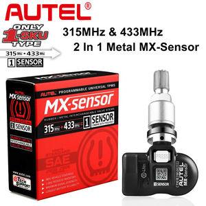 Image 4 - Autel TPMS Sensor MX Sensor 2 в 1 Инструменты для ремонта шин TPMS Sensor Support Программирование с TS501 TS508 равно 433 МГц + 315 МГц