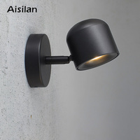 Aisilan Wall Lamp Modern Style Wall light Adjustable Black/White 7W for Bedroom Foyer Mirror Light Corridor sconce AC90 220V