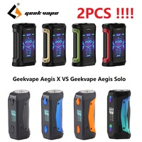Latest Version!!! 2PCS Geekvape Aegis X Mod 200W Max Output & New AS 2.0 Chipset VS Geekvape Aegis Solo Mod E cig Mod Vaporizer