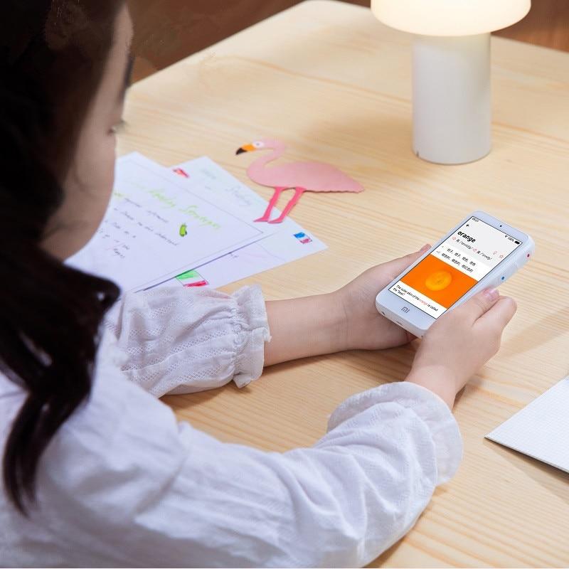 Оригинальный Xiaomi умный обучающий аппарат переводчик wifi версия Xiaoai Teacher 30 языков Bluetooth защита глаз считывающая машина - 5