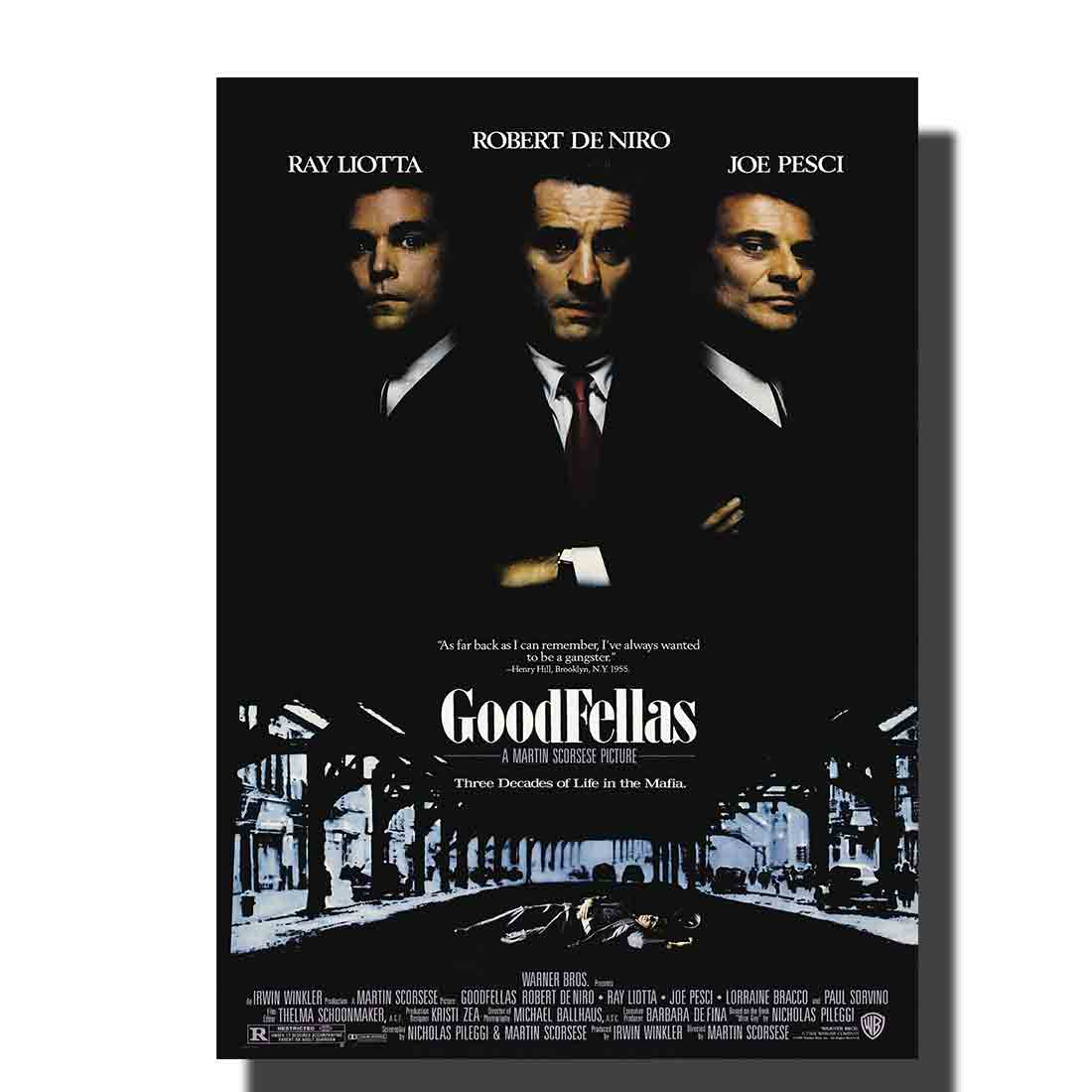 L534 GOODFELLAS Movie Poster Robert DeNiro Gangster Mob fabric art painting 14x21 24x36 print Decoration Room wall Picture image