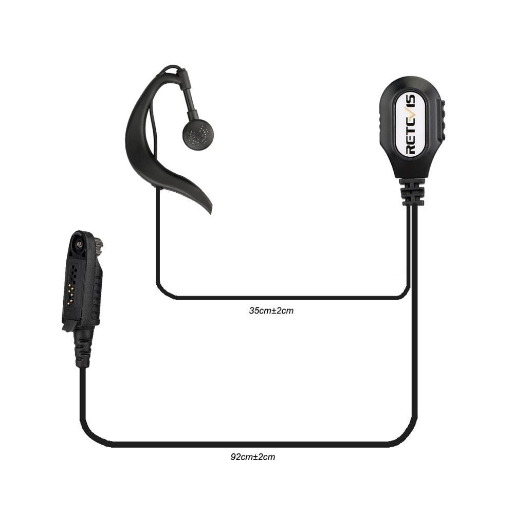 New G-Shape Ear Hook Microphone Walkie Talkie Earpiece Headset For Retevis RT82/RT87/RT83/Ailunce HD1 Two Way Radio Accessories