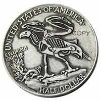 FK(01)Hobo 1916 Walking Liberty medio dólar, diseño de Calavera, copia de monedas
