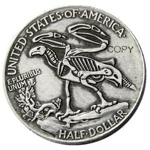 FK (01) Hobo 1916 Walking Liberty полудоллар череп дизайн Монета КОПИЯ