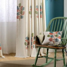 Protection Cotton Embroidery Curtain Fabric For Window Treatment Curtains The Wishing Tree  for Living Dining Room Bedroom.