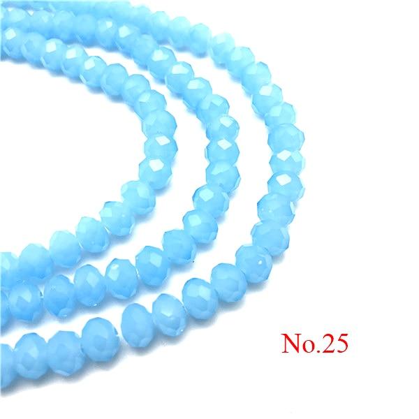 3x4 мм/4x6 мм/6x8 мм Хрустальные Круглые граненые стеклянные бусины для самостоятельного изготовления ювелирных изделий Аксессуары для ювелирных изделий - Цвет: No.25