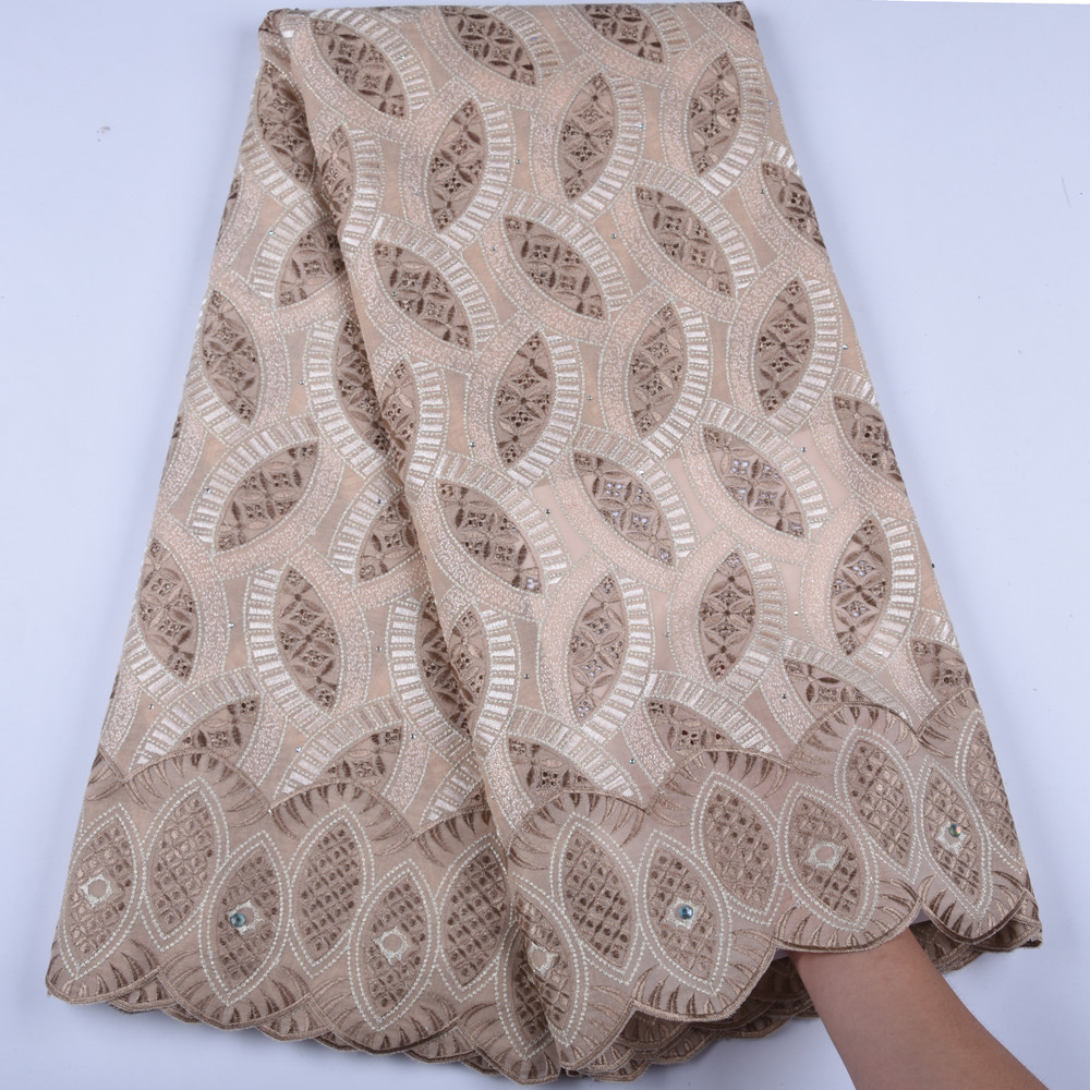 African Lace Fabric Swiss Voile Lace With Stones High Quality Embroidery Dry Lace Fabri A1597