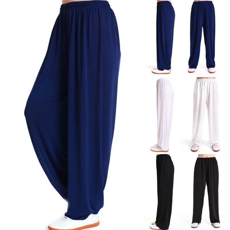 Mens Tai Chi Pants Cotton Loose Yoga Martial Arts Kung Fu Training Pants Breathable Men's Breathable Pants