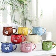 Cartoon Ceramic Mug Animal Heat-resistant Cup Breakfast Drinkware Children Kid Milk Coffee