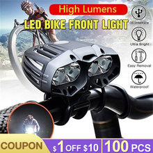 4*T6 LED Bicycle Lights Waterproof 8800LM Bike Front Light Rechargeable Flashlight For Bicycle Lantern Headlight Cycling Torch bicycle outdoor cycling torch headlight bicycle lights bike lights 5600lm 50w t6 5led xml bike front lamp