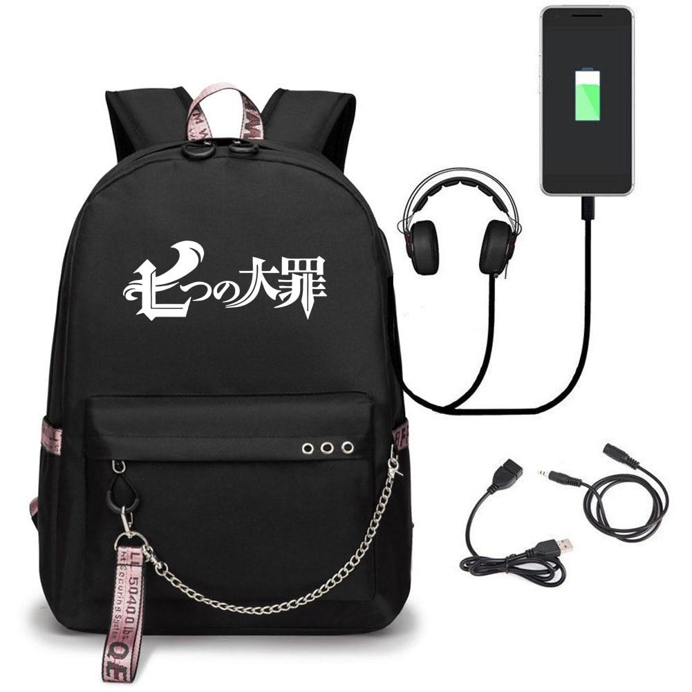 Blackbackpack Seven Deadly Sins Backpack Middle Student School Backpack For Children//Toddler Backpack