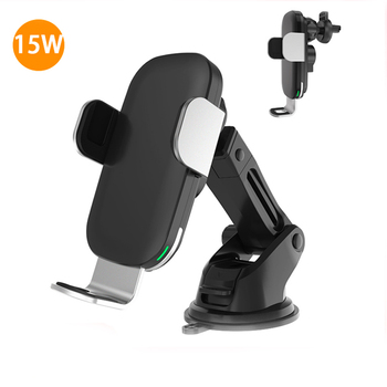 15W Qi Car Wireless Charger Wireless Car Charger Automatic Clamping Fast Wireless Charger mount For iPhoneXS Xiaomi Phone Holder