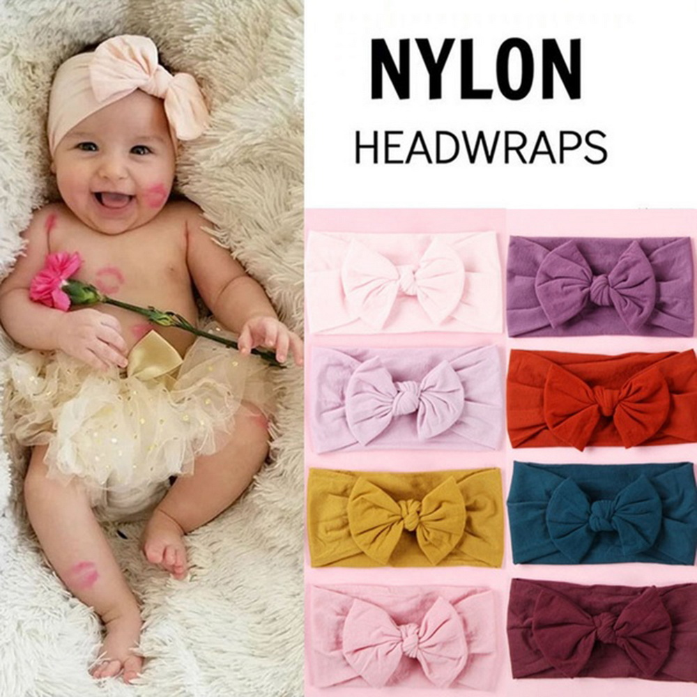 Big Bowknot Baby Headbands Knotted Infant Headwrap Toddler Girl Turban Baby Bows