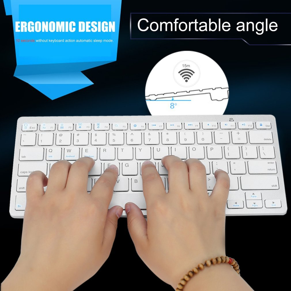 Wireless Bluetooth Keyboard Hot Sale For Air ipad Mini Mac Computer PC Macbook-4