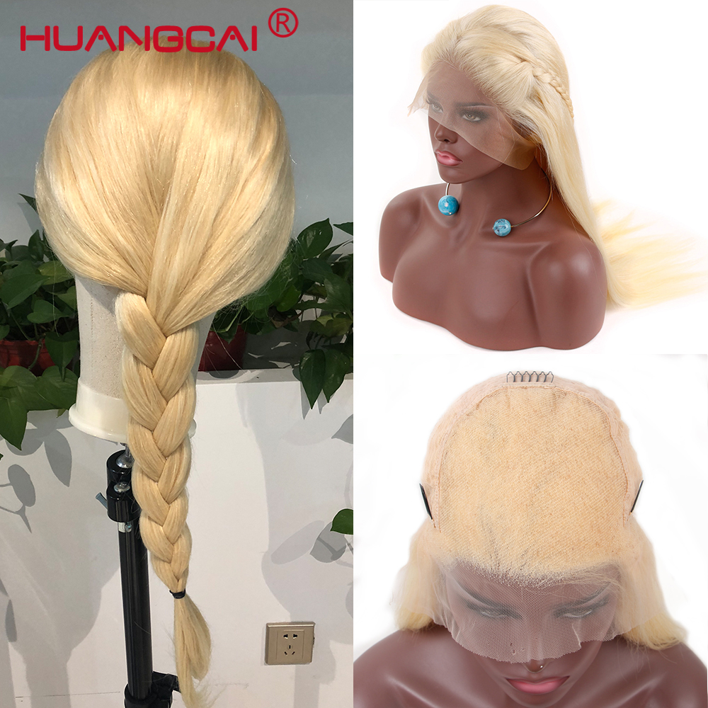 13x6 Lace Front Human Hair Wigs Brazilian Straight 613 Blonde Lace Front Wig Pre Plucked Honey Blonde Lace Wig Remy Hair 26Inch