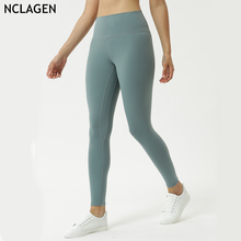 NCLAGEN Sports Yoga Pants Women Hip-lifting Fitness High Waist Tight Gym Naked Feel Sport Workout Large Size Running Leggings